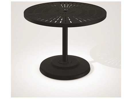 Tropitone La Stratta Aluminum 36 Round KD Pedestal Dining Umbrella Table