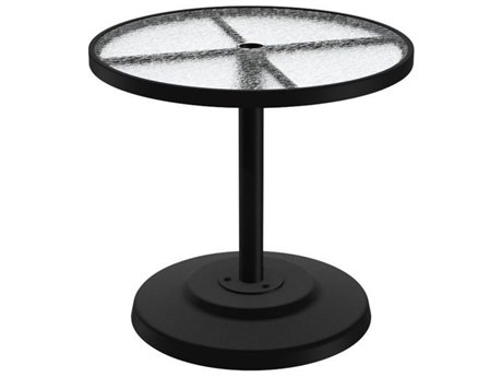 Tropitone Cast Aluminum 30 Round KD Pedestal Dining Umbrella Table
