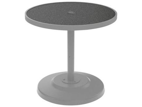 Tropitone Hpl Raduno Aluminum 30 Round KD Pedestal Dining Umbrella Table