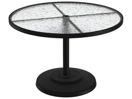 Tropitone Cast Aluminum 42 Round KD Pedestal Dining Umbrella Table