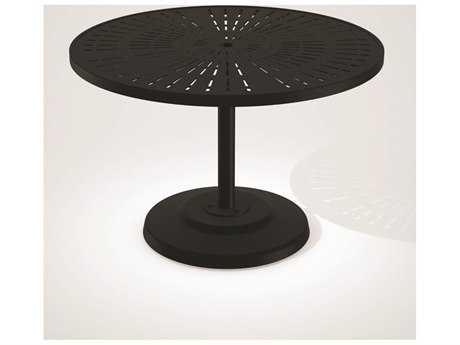 Tropitone La Stratta Aluminum 42 Round KD Pedestal Dining Umbrella Table