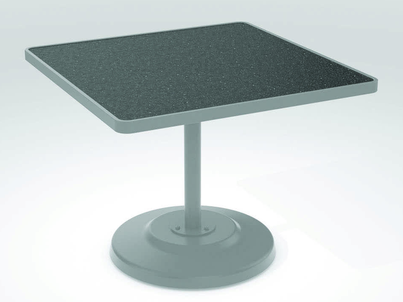 Tropitone Hpl Raduno Aluminum 36 Square Kd Pedestal Dining Table Tp701476h