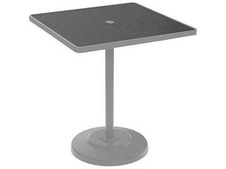 Tropitone 36 Square KD HPL Pedestal Bar Table