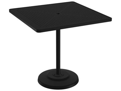 Tropitone Boulevard Aluminum 42 Square KD Pedestal Bar Umbrella Table