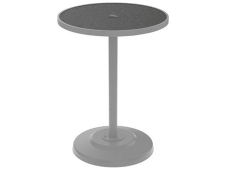 Tropitone Hpl Raduno Aluminum 30 Round KD Pedestal Bar Umbrella Table
