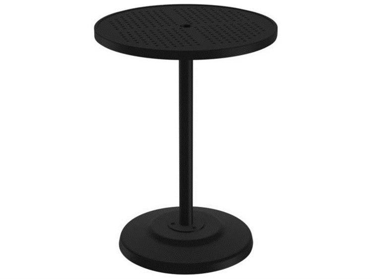 Tropitone Boulevard Aluminum 30 Round KD Pedestal Bar Umbrella Table