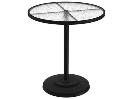 Tropitone Cast Aluminum 36 Round KD Pedestal Bar Umbrella Table