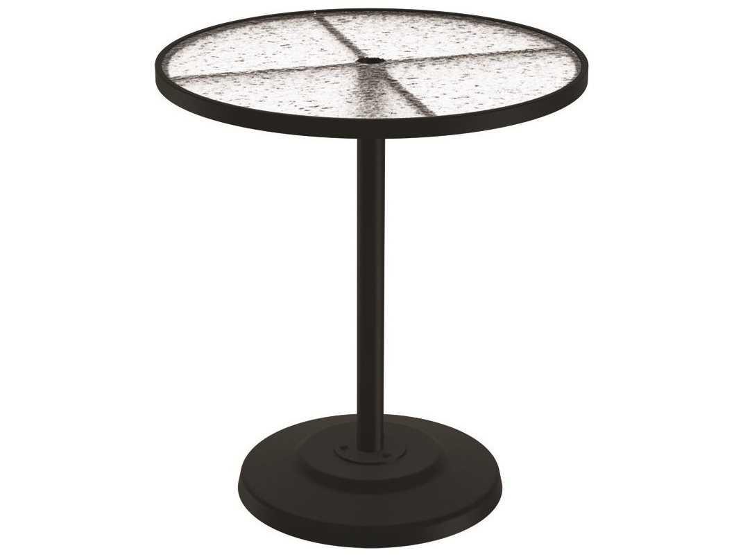 Tropitone cast aluminum 36 round kd pedestal bar umbrella - Aluminium picnic table with umbrella ...