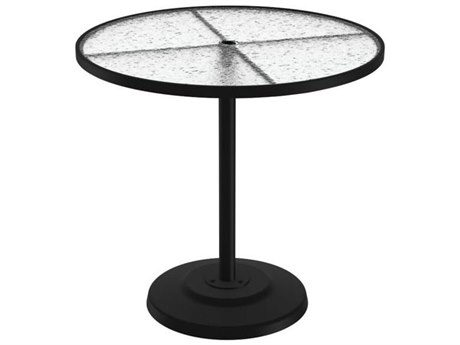 Tropitone Cast Aluminum 42 Round KD Pedestal Bar Umbrella Table