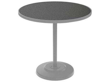 Tropitone Hpl Raduno Aluminum 42 Round KD Pedestal Bar Table