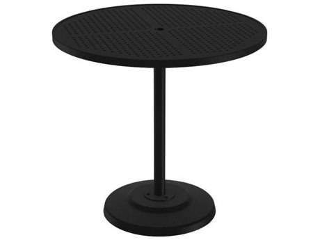 42'' Round Pedestal Bar Table with Umbrella Hole
