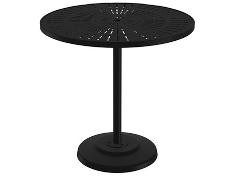 Tropitone La Stratta Aluminum 42 Round KD Pedestal Bar Umbrella Table