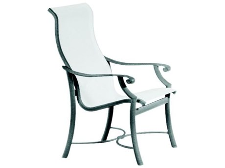 Tropitone Montreux Sling Aluminum High Back Dining Arm Chair