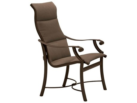 Tropitone Montreux Padded Sling Aluminum Dining Arm Chair
