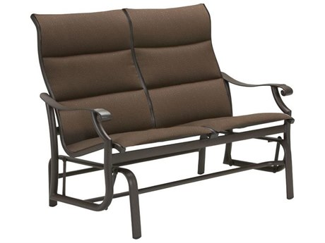 Tropitone Montreux Padded Sling Aluminum Glider Loveseat