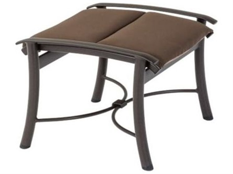 Tropitone Montreux Padded Sling Aluminum Ottoman PatioLiving