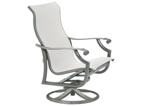 Tropitone Montreux Sling Aluminum Swivel Lounge Chair