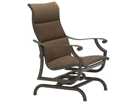 Tropitone Montreux Padded Sling Aluminum Glider Lounge Chair