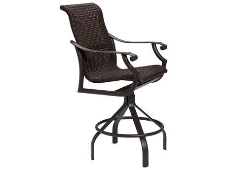 Tropitone Montreux Woven Swivel Bar Stool