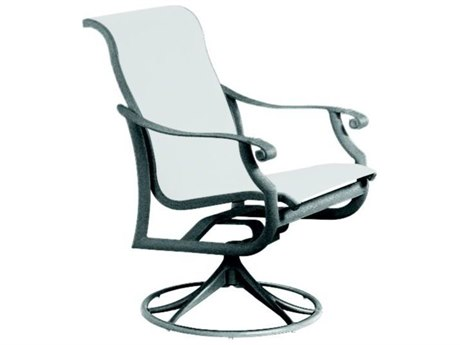Tropitone Montreux Sling Aluminum Swivel Rocker Dining Chair