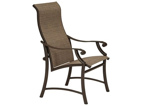 Tropitone Montreaux II Sling Aluminum High Back Dining Chair
