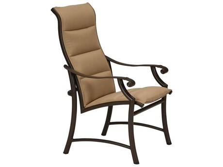 Tropitone Montreaux II Padded Sling Aluminum High Back Dining Chair