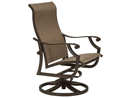 Tropitone Montreaux II Sling Aluminum Swivel Action Lounger - Traditional Base