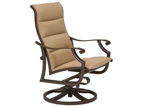 Tropitone Montreaux II Padded Sling Aluminum Swivel Action Lounger - Traditional Base