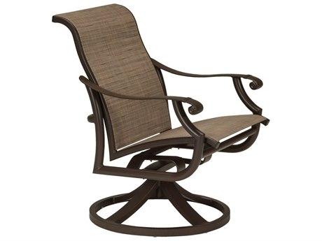 Tropitone Montreaux II Sling Aluminum Swivel Dining Chair