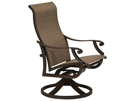 Tropitone Montreaux II Sling Aluminum High Back Swivel Rocker