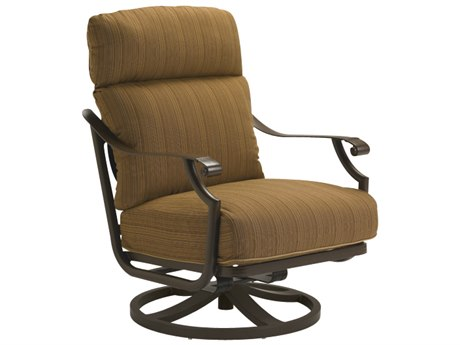 Tropitone Montreux Cushion Aluminum Swivel Action Lounge Chair