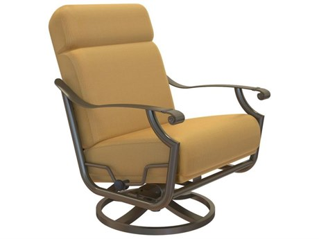 Tropitone Montreux Urcomfort Cushion Aluminum Petite High Back Swivel Action Lounger