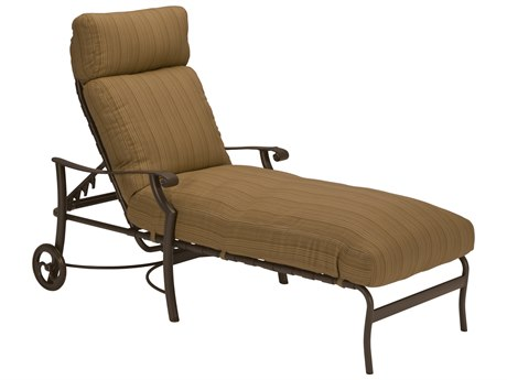 Tropitone Montreux Cushion Aluminum Chaise Lounge with Wheels