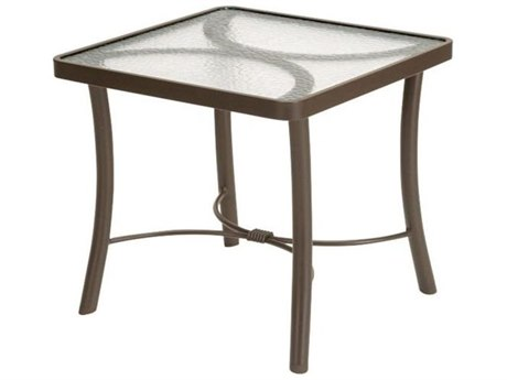Tropitone Acrylic Cast Aluminum 24''Wide Square End Table PatioLiving