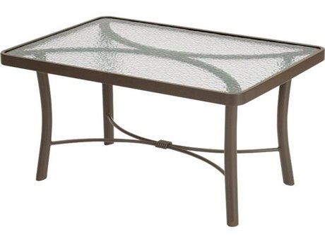 Tropitone Cast Aluminum 36 x 24 Rectangular Obscure Coffee Table TP720239G