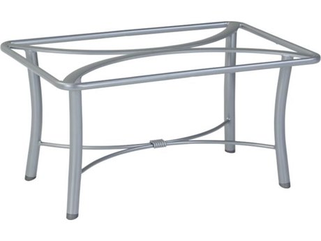 Tropitone Bases Cast Aluminum Rectangular Coffee Table Base Only 18H