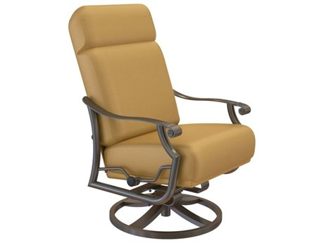 Tropitone Montreux Urcomfort Cushion Aluminum Petite High Back Swivel Action Lounger TP720270SA