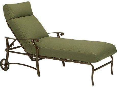 Tropitone Montreaux II Relaxplus Cushion Aluminum Chaise Lounge With Wheels PatioLiving