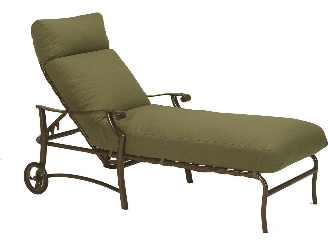 Tropitone montreaux ii relaxplus cushion aluminum chaise for Aluminum chaise lounge with wheels