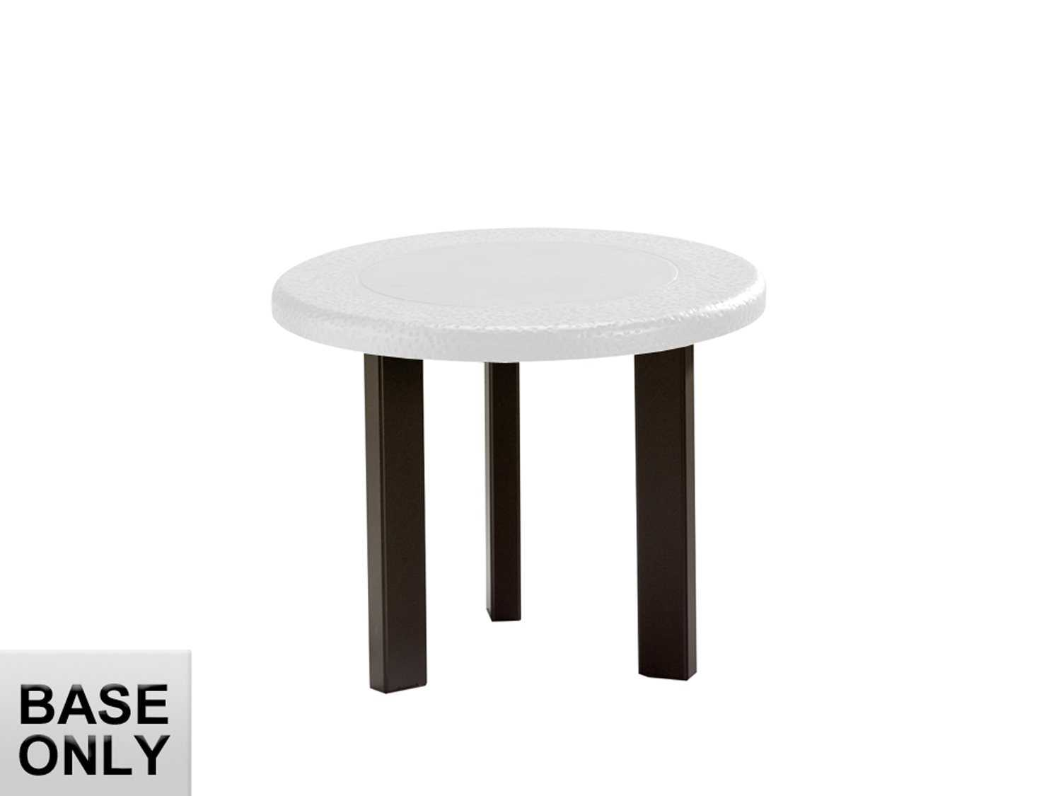 Tropitone bases cast aluminum round coffee table base only 18h tp730582swb Bases for coffee tables