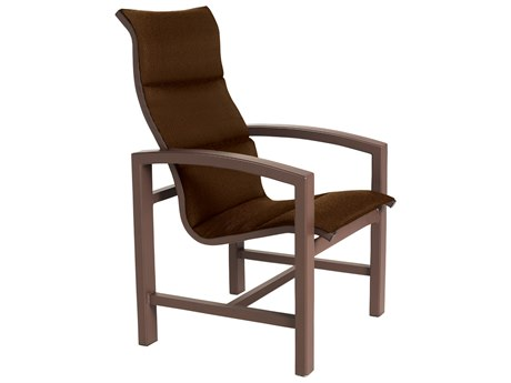 Tropitone Lakeside Padded Sling Aluminum Arm Dining Chair