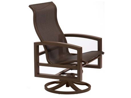 Tropitone Lakeside Sling Aluminum Swivel Action Lounge Chair