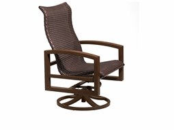 Lakeside Woven Swivel Action Lounge Chair
