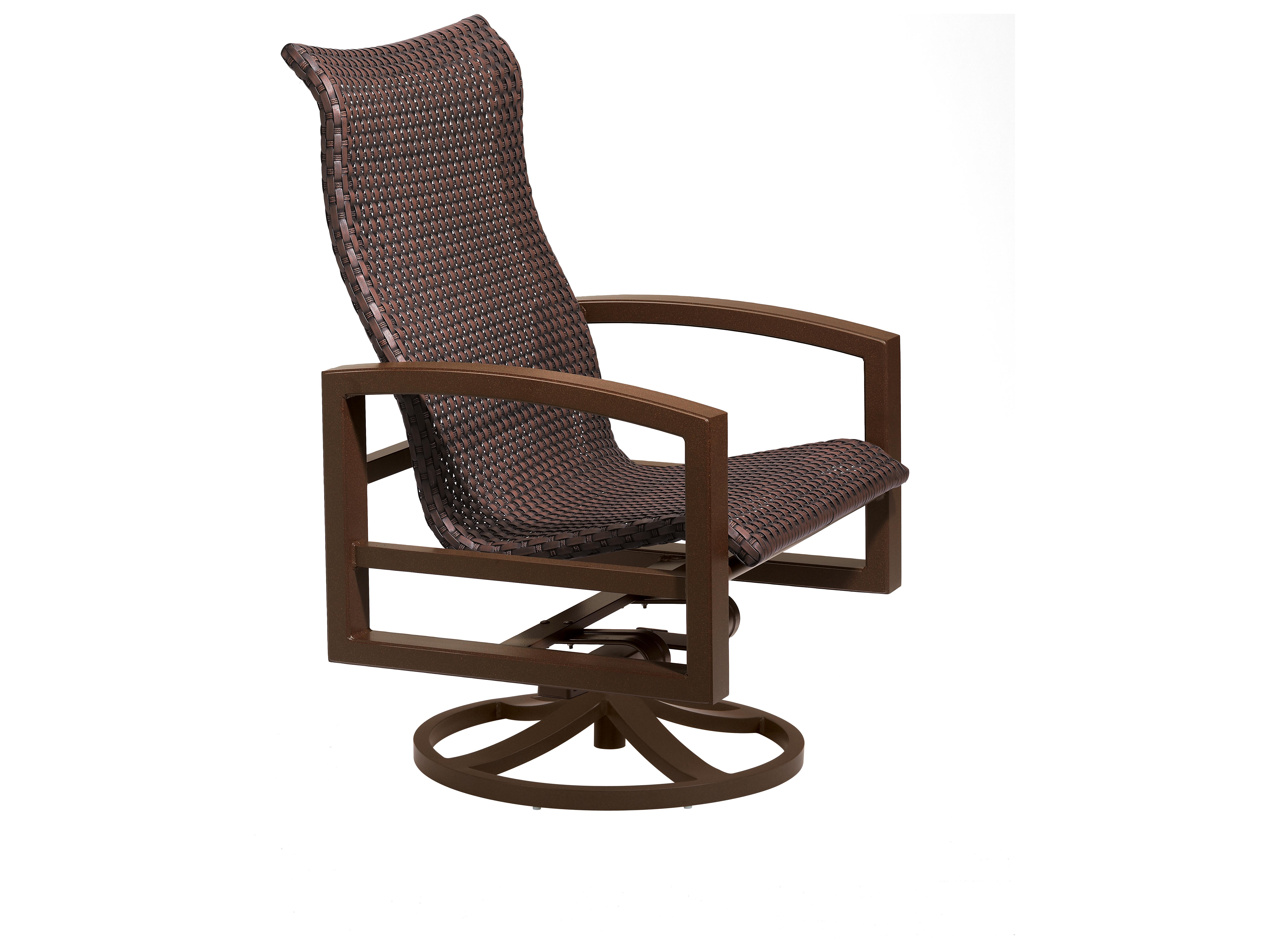 Tropitone Lakeside Woven Swivel Action Lounge Chair