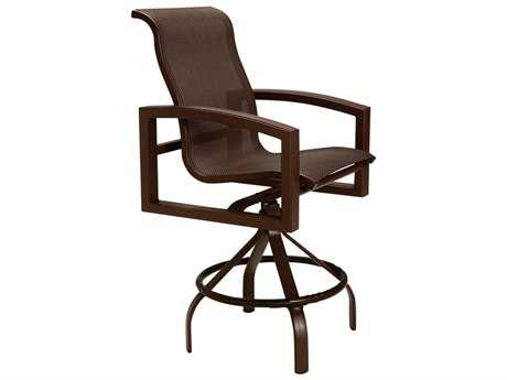 Tropitone Lakeside Sling Aluminum Swivel Bar Stool