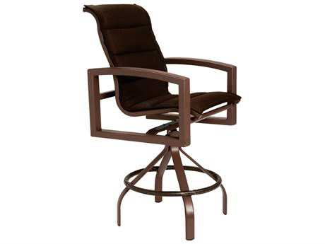 Tropitone Lakeside Padded Sling Aluminum Swivel Bar Stool