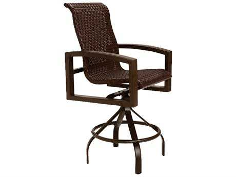 Tropitone Lakeside Woven Swivel Bar Stool
