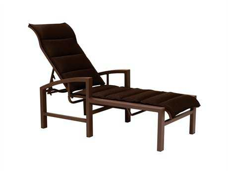 Tropitone Lakeside Padded Sling Aluminum Chaise Lounge