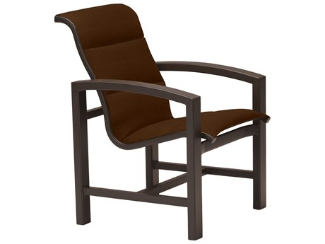 Tropitone Lakeside Padded Sling Aluminum Dining Arm Chair