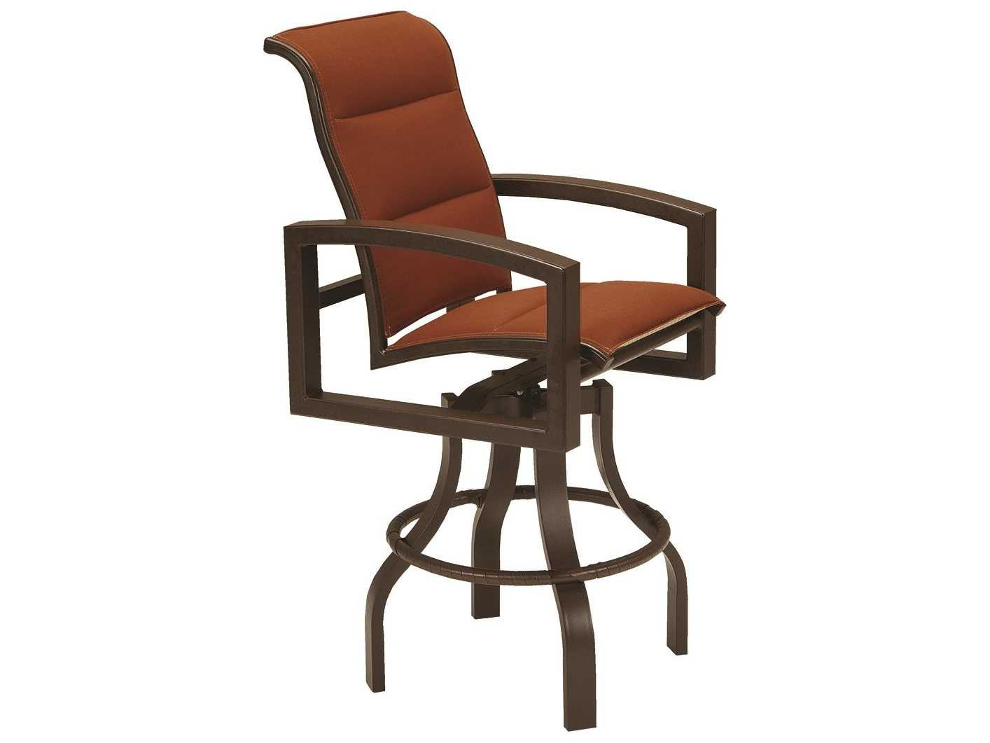Tropitone Lakeside II Padded Sling Aluminum 28 Bar Stool
